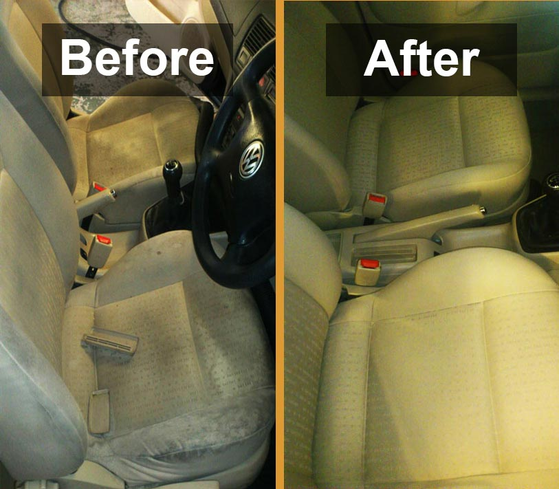 Upholstery cleaning before and after